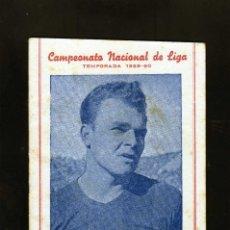 Coleccionismo deportivo: BONITO CALENDARIO LIGA FUTBOL 1959-60 CON LA IMAGEN DE KUBALA REGISRO PARTIDOS 1ª2ª Y 3ª DIVISION. Lote 226374360