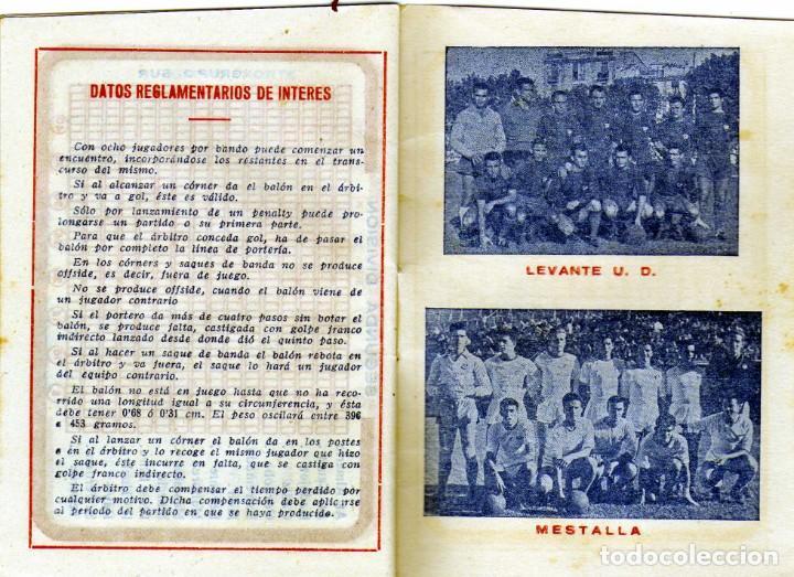 Coleccionismo deportivo: BONITO CALENDARIO LIGA FUTBOL 1959-60 CON LA IMAGEN DE KUBALA REGISRO PARTIDOS 1ª2ª Y 3ª DIVISION - Foto 2 - 226374360