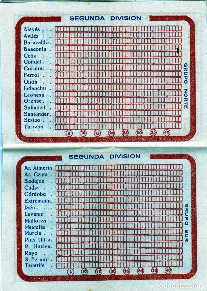 Coleccionismo deportivo: BONITO CALENDARIO LIGA FUTBOL 1959-60 CON LA IMAGEN DE KUBALA REGISRO PARTIDOS 1ª2ª Y 3ª DIVISION - Foto 3 - 226374360
