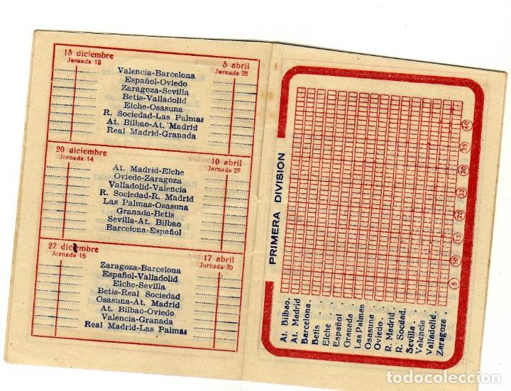 Coleccionismo deportivo: BONITO CALENDARIO LIGA FUTBOL 1959-60 CON LA IMAGEN DE KUBALA REGISRO PARTIDOS 1ª2ª Y 3ª DIVISION - Foto 4 - 226374360