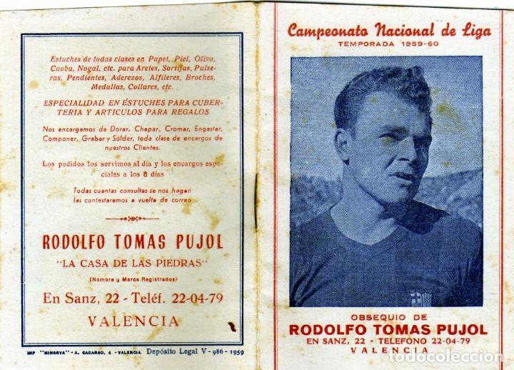 Coleccionismo deportivo: BONITO CALENDARIO LIGA FUTBOL 1959-60 CON LA IMAGEN DE KUBALA REGISRO PARTIDOS 1ª2ª Y 3ª DIVISION - Foto 5 - 226374360