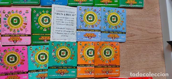Coleccionismo deportivo: 90 calendarios Dinamico de 1970 al 2015. Gratuitos, numerados de pago, internacionales. etc - Foto 7 - 227868725