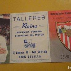 Coleccionismo deportivo: ANTIGUO CALENDARIO FUTBOL. SEVILLA F.C 1986-1987. TALLERES REINA. Lote 228062840