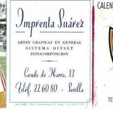 Coleccionismo deportivo: SEVILLA CF: CALENDARIO DE PRIMERA DIVISIÓN DE LA TEMPORADA 1983-84. CON LA FOTO DE NIMO. Lote 231776825