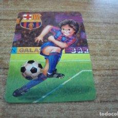 Coleccionismo deportivo: CALENDARIO DE BOLSILLO TEMA FUTBOL F C BARCELONA 1989. Lote 233970790