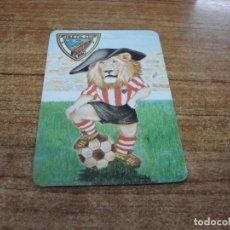 Coleccionismo deportivo: CALENDARIO DE BOLSILLO TEMA FUTBOL ATHLETIC CLUB BILBAO 1986. Lote 233971455