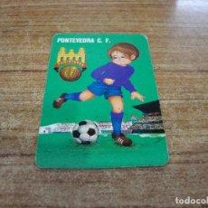 Coleccionismo deportivo: CALENDARIO DE BOLSILLO TEMA FUTBOL PONTEVEDRA C. F. 1976. Lote 233971830