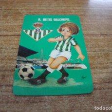 Coleccionismo deportivo: CALENDARIO DE BOLSILLO TEMA FUTBOL R. BETIS BALOMPIE 1976. Lote 233972435
