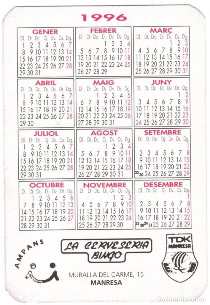 Coleccionismo deportivo: TDK MANRESA - CAMPEÓN COPA ACB 1996 - Foto 2 - 234578050