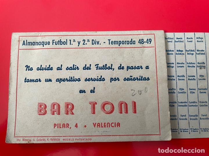 CALENDARIO - ALMANAQUE FUTBOL 1ª Y 2ª DIVISION - TEMPORADA 48-49 (Coleccionismo Deportivo - Documentos de Deportes - Calendarios)