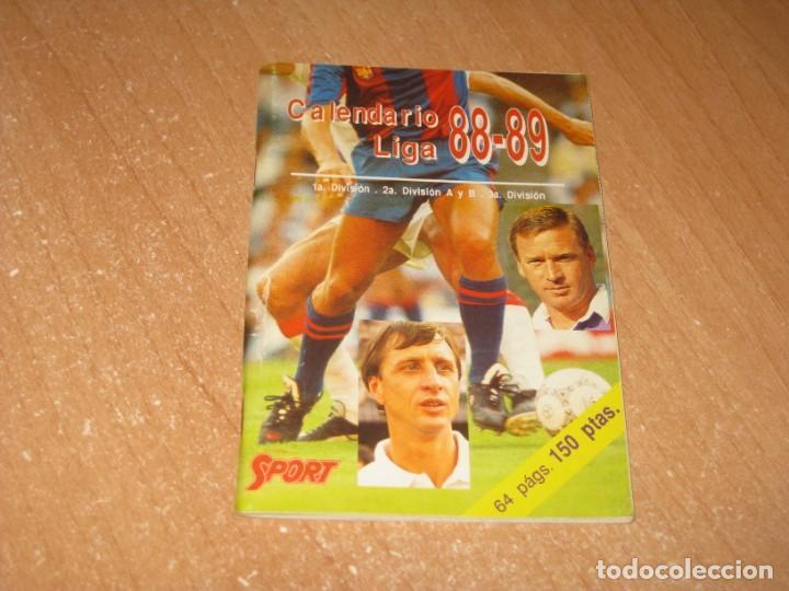 CALENDARIO LIGA 88-89 (Coleccionismo Deportivo - Documentos de Deportes - Calendarios)