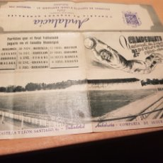 Coleccionismo deportivo: CALENDARIO CAMPEONATO NACIONAL LIGA 1947 1948 COMPAÑÍA SEGUROS ANDALUCÍA VALLADOLID CALLE SANTIAGO. Lote 237149365