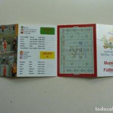 Coleccionismo deportivo: CALENDARIO DE PARTIDOS MUNDIAL DE FÚTBOL 2010 SUDÁFRICA. Lote 244644780