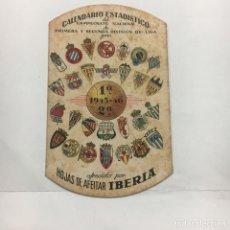 Coleccionismo deportivo: CALENDARIO ESTADISTICO DE CAMPEONATO DE LIGA 1945-46 FUTBOL PUBLICIDAD IBÈRIA. Lote 244677355