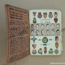 Coleccionismo deportivo: CALENDARIO DINAMICO FUTBOL TEMPORADA LIGA 57 58 ENCUADERNACION ESPECIAL, RARA. Lote 246019660