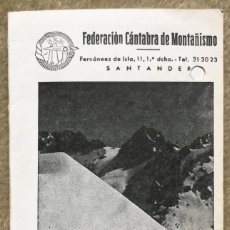 Coleccionismo deportivo: FEDERACIÓN CANTABRA DE MONTAÑISMO - CALENDARIO DE ACTIVIDADES 1983 (CLUBS ESCALADA CANTABRIA). Lote 246237075