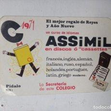 Coleccionismo deportivo: CALENDARIO NO ES FOURNIER 1971 ASSIMIL. Lote 251937860