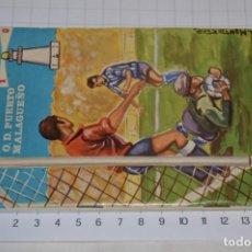 Coleccionismo deportivo: O.D. PUERTO MALAGUEÑO / TEMPORADA 1968/69 - ¡CURIOSO Y RARO CALENDARIO OBSEQUIO! - MUY BUEN ESTADO. Lote 253019890