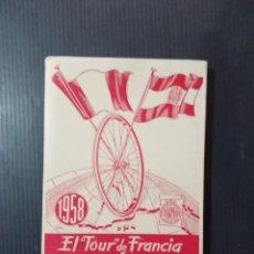 Coleccionismo deportivo: EL TOUR DE FRANCIA Y LA VUELTA A ESPAÑA 1958 - CALENDARIO DINAMICO. Lote 270519648