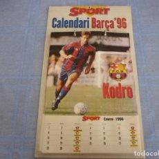 Coleccionismo deportivo: (LLL) CALENDARIO SPORT F.C.BARCELONA 1996-BARÇA-COMPLETO. Lote 255391040