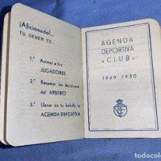 Coleccionismo deportivo: FUTBOL AGENDA DEPORTIVA CLUB 1949 - 50 ENTRENADORES FUTBOLISTAS TORNEOS CALENDARIO EN MUY BUEN ESTAD. Lote 257422190