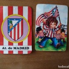 Coleccionismo deportivo: LOTE DE 2 CALENDARIO ATLETICO DE MADRID AÑOS 1977 Y 1978. VER FOTOS. W. Lote 260828975