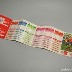 Coleccionismo deportivo: ANTIGUO CALENDARIO DESPLEGABLE DEL CAMPEONATO MUNDIAL DE FUTBOL USA 94 PUBLICIDAD DE COCA COLA. Lote 261126750