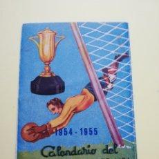 Coleccionismo deportivo: CALENDARIO LIGA DE FÚTBOL 1954-1955. Lote 261619645