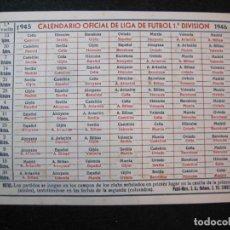 Coleccionismo deportivo: CALENDARIO LIGA DE FUTBOL 1ª DIVISION 1945 1946-VER FOTOS-(K-2777). Lote 262795320
