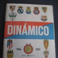 Coleccionismo deportivo: CALENDARIO FUTBOL DINAMICO LIGA 1966-1967. FOTOS EQUIPOS Y JUGADORES.. Lote 263024155