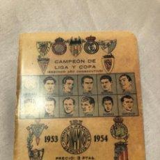 Coleccionismo deportivo: CALENDARIO DINÁMICO AÑO 53-54. ÚNICO!!!. Lote 264451829