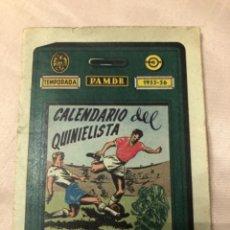 Coleccionismo deportivo: CALENDARIO DINÁMICO AÑO 55-56. OCASIÓN ÚNICA!!. Lote 264452514