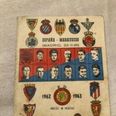 Coleccionismo deportivo: CALENDARIO DINÁMICO AÑO 62-63. OCASIÓN ÚNICA!!. Lote 264454704