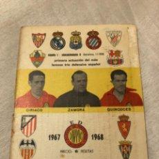 Coleccionismo deportivo: CALENDARIO DINÁMICO AÑO 67-68. OCASIÓN ÚNICA!!. Lote 264456139