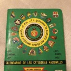 Coleccionismo deportivo: CALENDARIO DINÁMICO AÑO 89-90. Lote 264690789