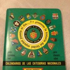 Coleccionismo deportivo: CALENDARIO DINÁMICO AÑO 91-92. Lote 264774029