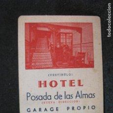 Coleccionismo deportivo: ZARAGOZA-HOTEL POSADA DE LAS ALMAS-CALENDARIO ASCENSO A 1ª DIVISION-VER FOTOS-(81.682). Lote 269476263