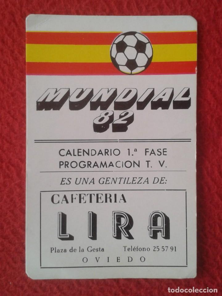 FÚTBOL CALENDARIO JUNIO 1982 MUNDIAL DE ESPAÑA 82 1ª FASE PROGRAMACIÓN TV ITALIA KUWAIT CHILE ETC... (Coleccionismo Deportivo - Documentos de Deportes - Calendarios)