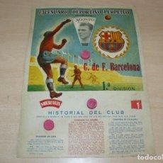 Coleccionismo deportivo: CALENDARIO DEPORTIVO PERPETUO C. DE F. BARCELONA 1ª DIVISIÓN CAMPEON LIGA ESPAÑA CATALUÑA FUTBOL CFB. Lote 273759688