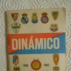 Coleccionismo deportivo: DINAMICO. 1966 - 1967. Lote 274526453