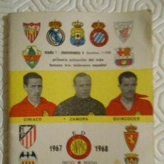Coleccionismo deportivo: DINAMICO. 1967 -1968.. Lote 274526503