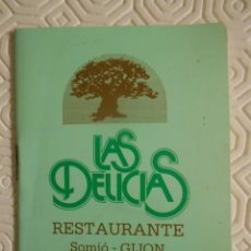 Coleccionismo deportivo: RESTAURANTE LAS DELICIAS. SOMIO, GIJON. CALENDARIO DE PARTIDOS DE LIGA TEMPORADA 1987 - 1988.. Lote 274526728