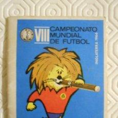 Collectionnisme sportif: VIII CAMPEONATO MUNDIAL DE FUTBOL. INGLATERA 1966. CALENDARIO DE PARTIDOS.. Lote 274526878