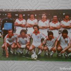 Coleccionismo deportivo: SEVILLA C. F. CALENDARIO NACIONAL DE LIGA TEMPORADA 1980 - 81. Lote 274576313