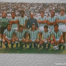 Coleccionismo deportivo: REAL BETIS BALOMPIE. CALENDARIO NACIONAL DE LIGA. 1ª DIVISION. TEMPORADA 1980 - 81.. Lote 274576588