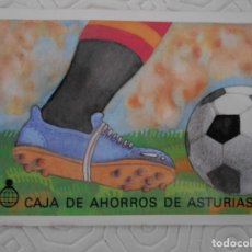 Coleccionismo deportivo: MUNDIAL 82. FUTBOL. ESPAÑA 82. CALENDARIO DE PARTIDOS. CAJA DE AHOROS DE ASTURIAS.. Lote 274577378