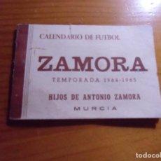 Collectionnisme sportif: CALENDARIO DE FUTBOL ZAMORA.MURCIA.TEMPORADA 1964-1965.. Lote 276877118