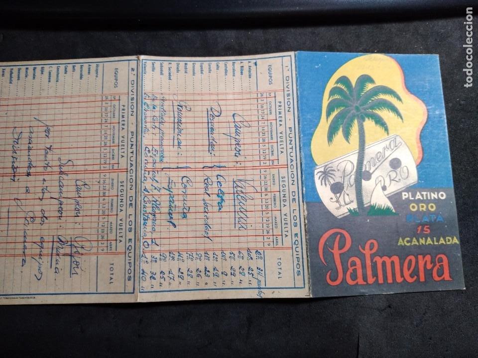 CALENDARIO CAMPEONATO NACIONAL 1ª -2 ª DIVISIÓN 1943 -1944 - PALMERA (Coleccionismo Deportivo - Documentos de Deportes - Calendarios)