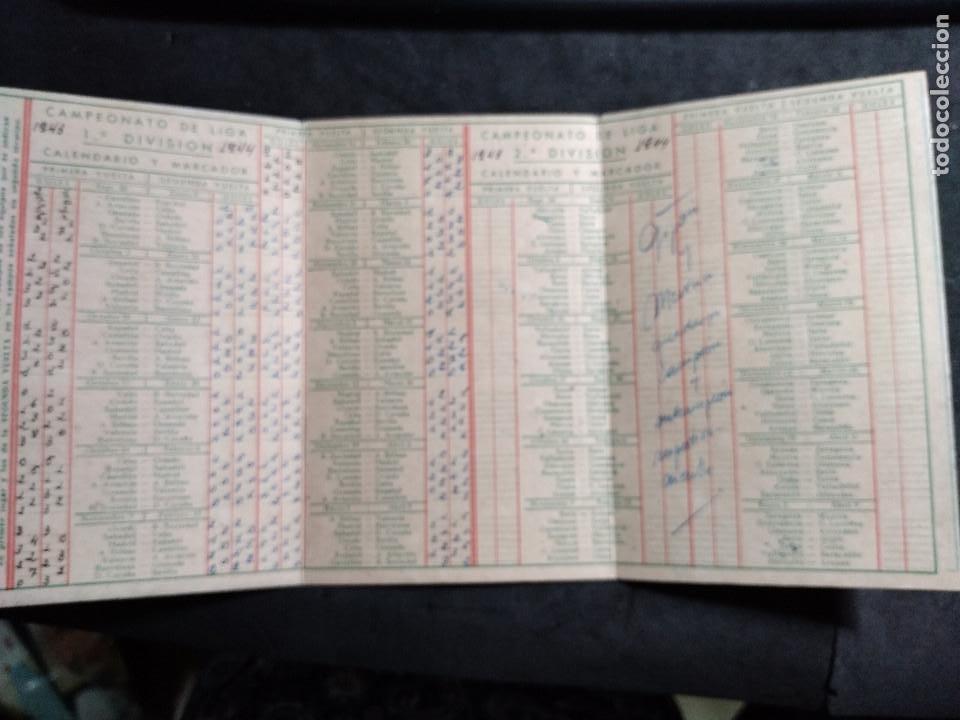 Coleccionismo deportivo: CALENDARIO CAMPEONATO NACIONAL 1ª -2 ª división 1943 -1944 - PALMERA - Foto 2 - 277158283