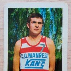 Coleccionismo deportivo: BALONCESTO C.D. MANRESA KAN'S JUGADOR FEDERICO SALLA CALENDARIO LIGA 1969. Lote 278214018